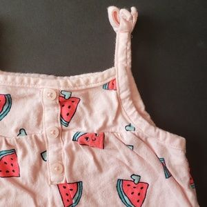 Baby Girls Watermelon Print Onesie